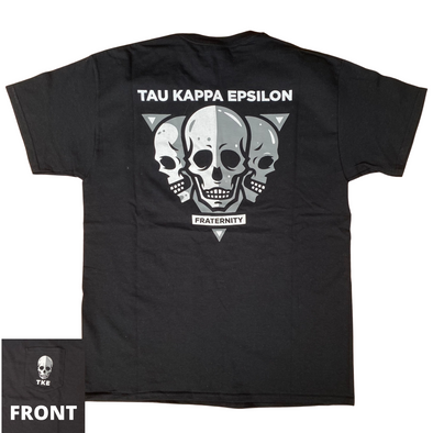 Tau Kappa Epsilon Graphic T-Shirt | TKE Skulls Pocket