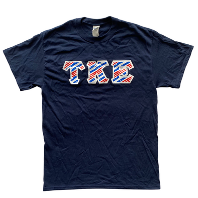 Tau Kappa Epsilon Printed Letter T-Shirt | USA Stripes