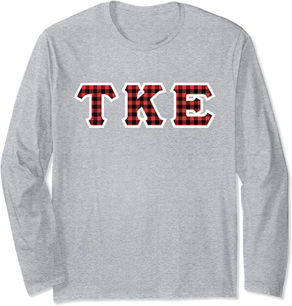 Tau Kappa Epsilon Printed Letter Long Sleeve | Plaid