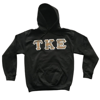 Tau Kappa Epsilon Stitched Letter Hoodie | Burberry with White Border