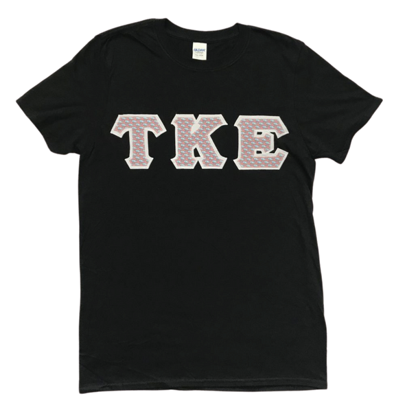 Tau Kappa Epsilon Stitched Letter T-Shirt | Vineyard Vines Whales with White Border