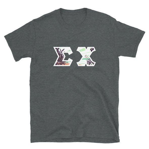 Sigma Chi Printed Letter T-Shirt | Tropical Pattern