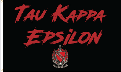 Tau Kappa Epsilon Fighter Flag | Black and Red