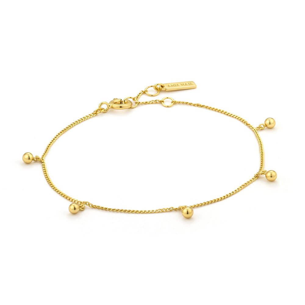 Gold Orbit Drop Balls Bracelet
