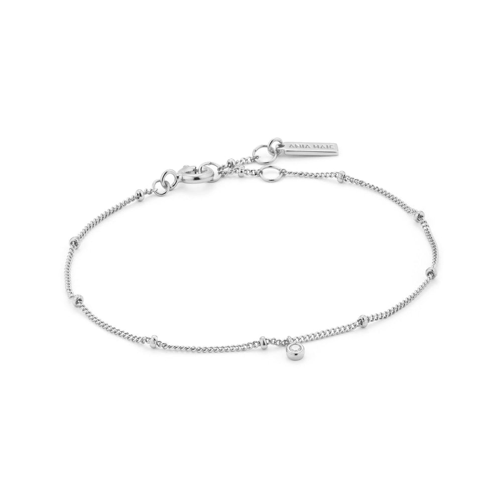 Load image into Gallery viewer, Silver Shimmer Single Stud Bracelet