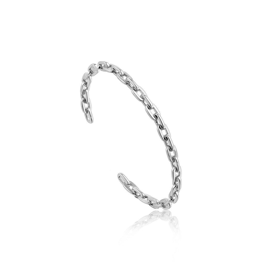 Load image into Gallery viewer, Silver Chain Cuff