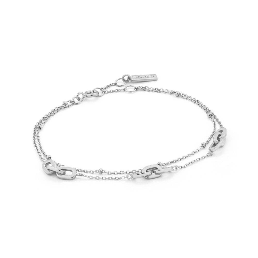 Silver Links Double Bracelet