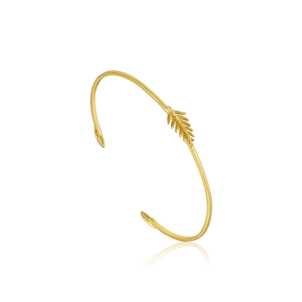 Load image into Gallery viewer, Gold Tropic Thin Cuff
