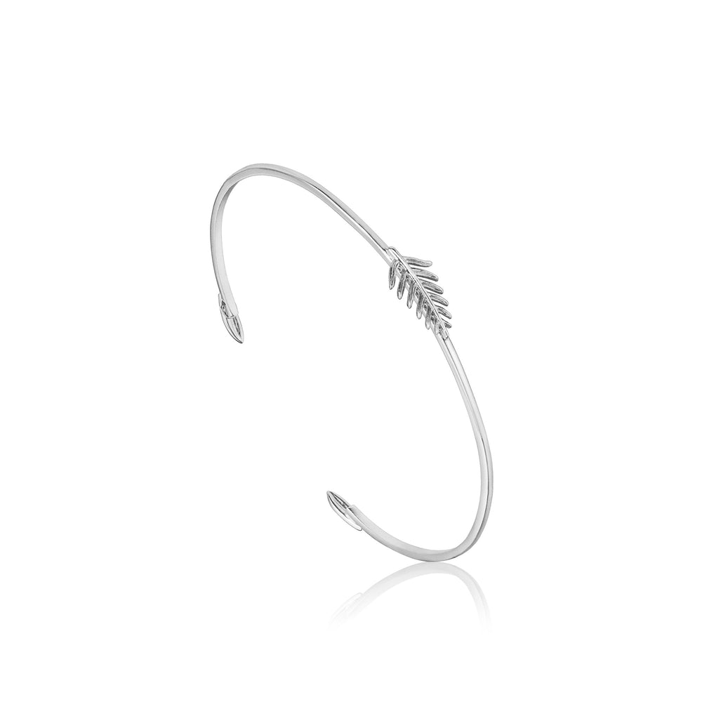 Load image into Gallery viewer, Silver Tropic Thin Cuff
