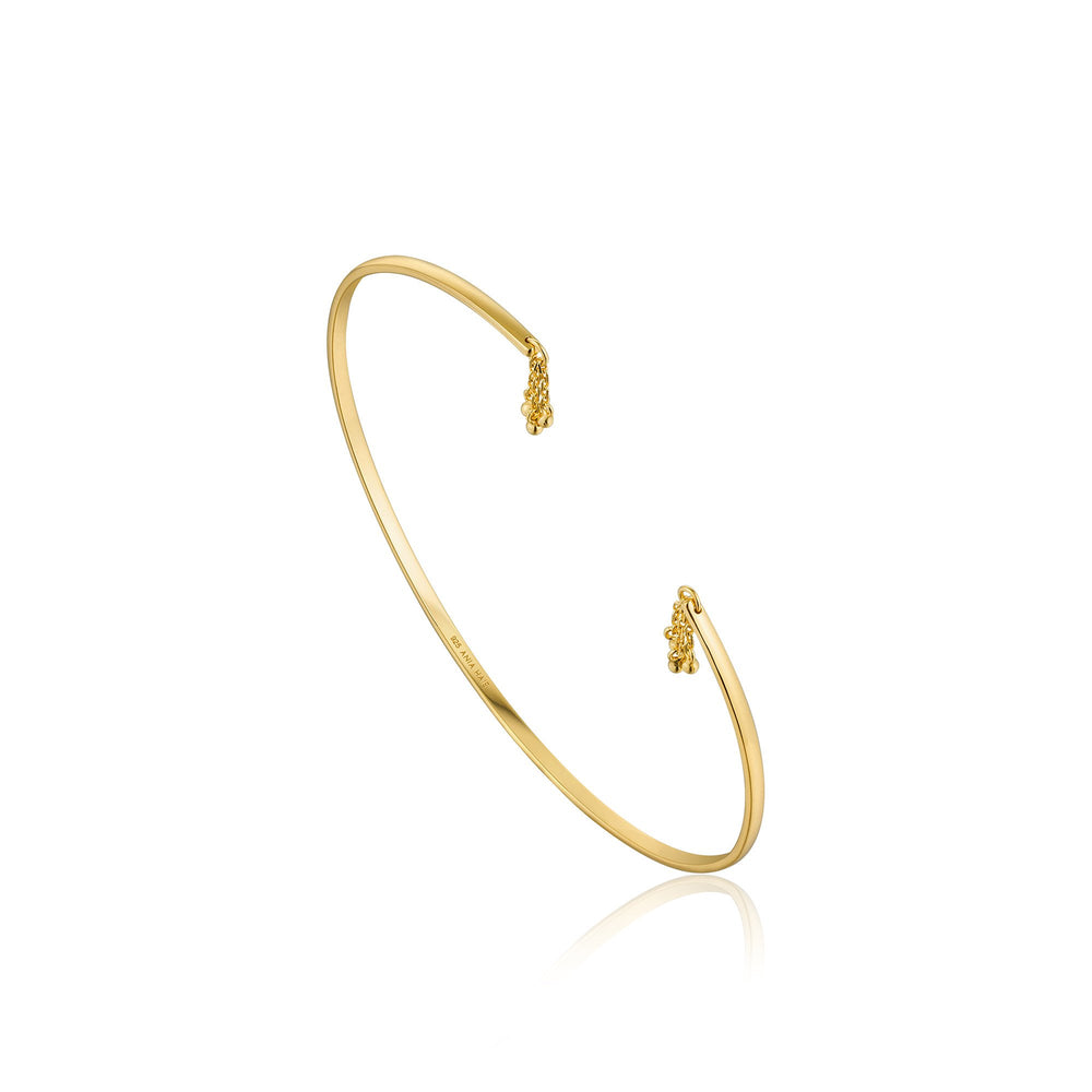 Gold Tassel Drop Bangle