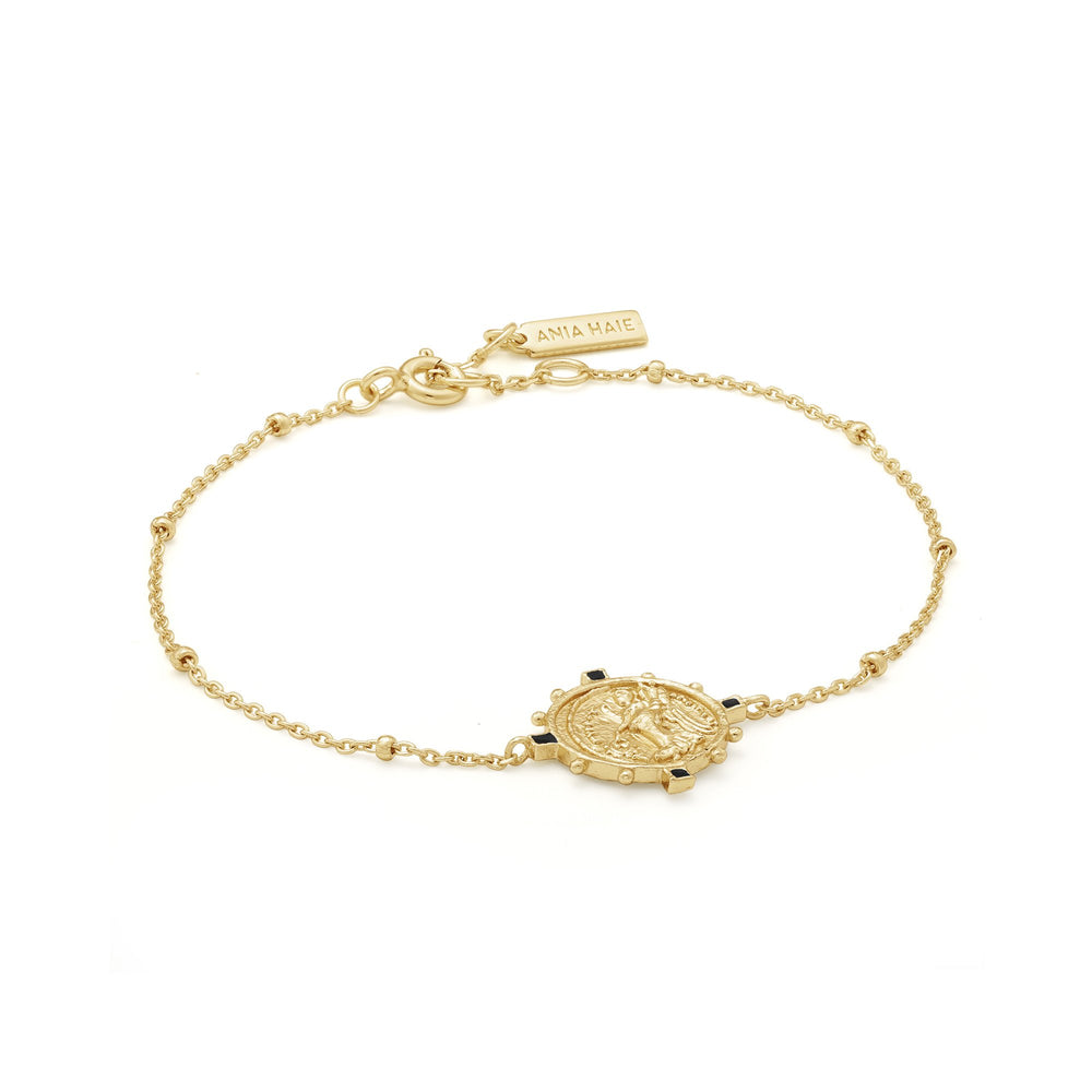 Load image into Gallery viewer, Gold Victory Goddess Bracelet