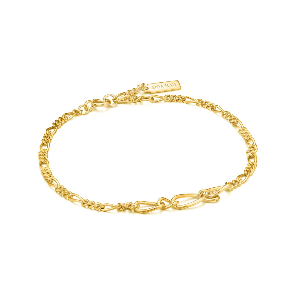 Load image into Gallery viewer, Gold Figaro Chain Bracelet