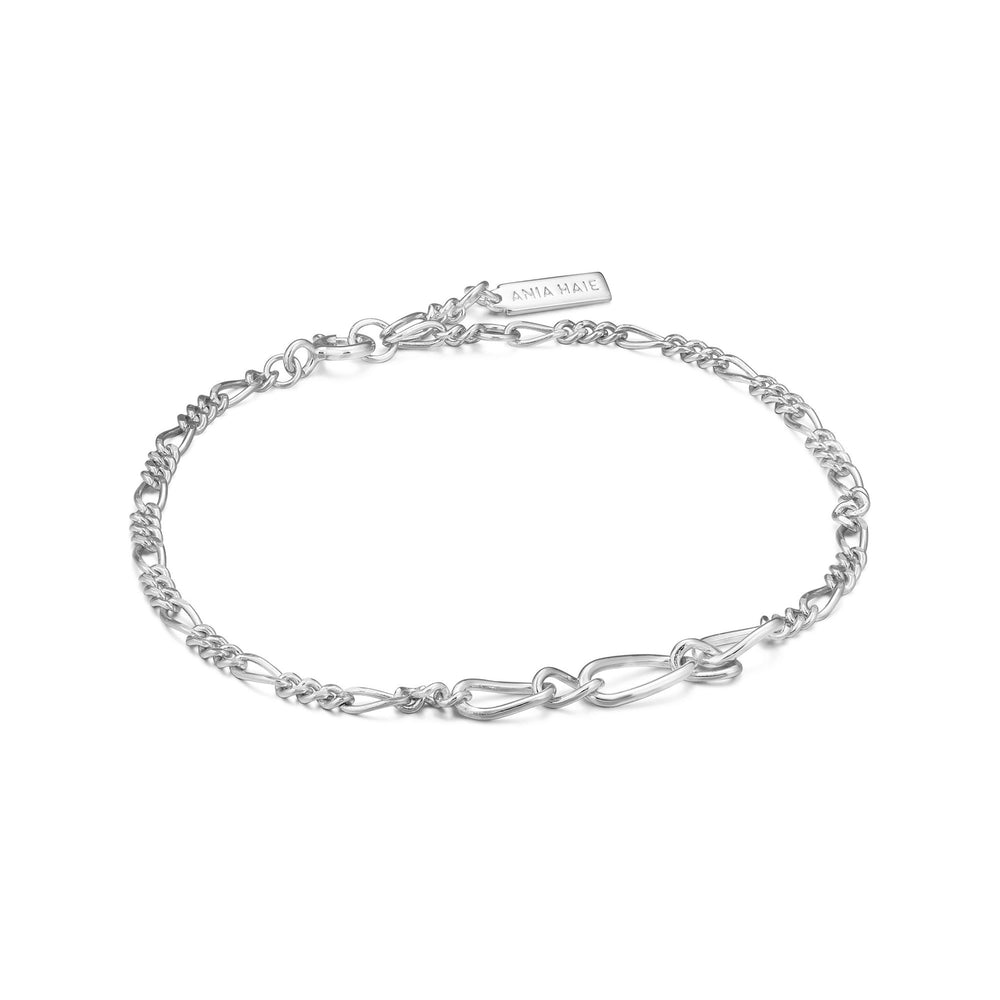 Load image into Gallery viewer, Silver Figaro Chain Bracelet