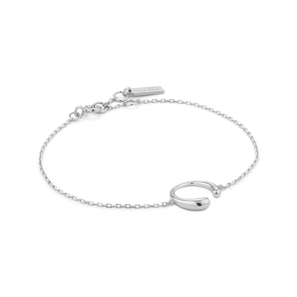 Load image into Gallery viewer, Silver Luxe Curve Bracelet
