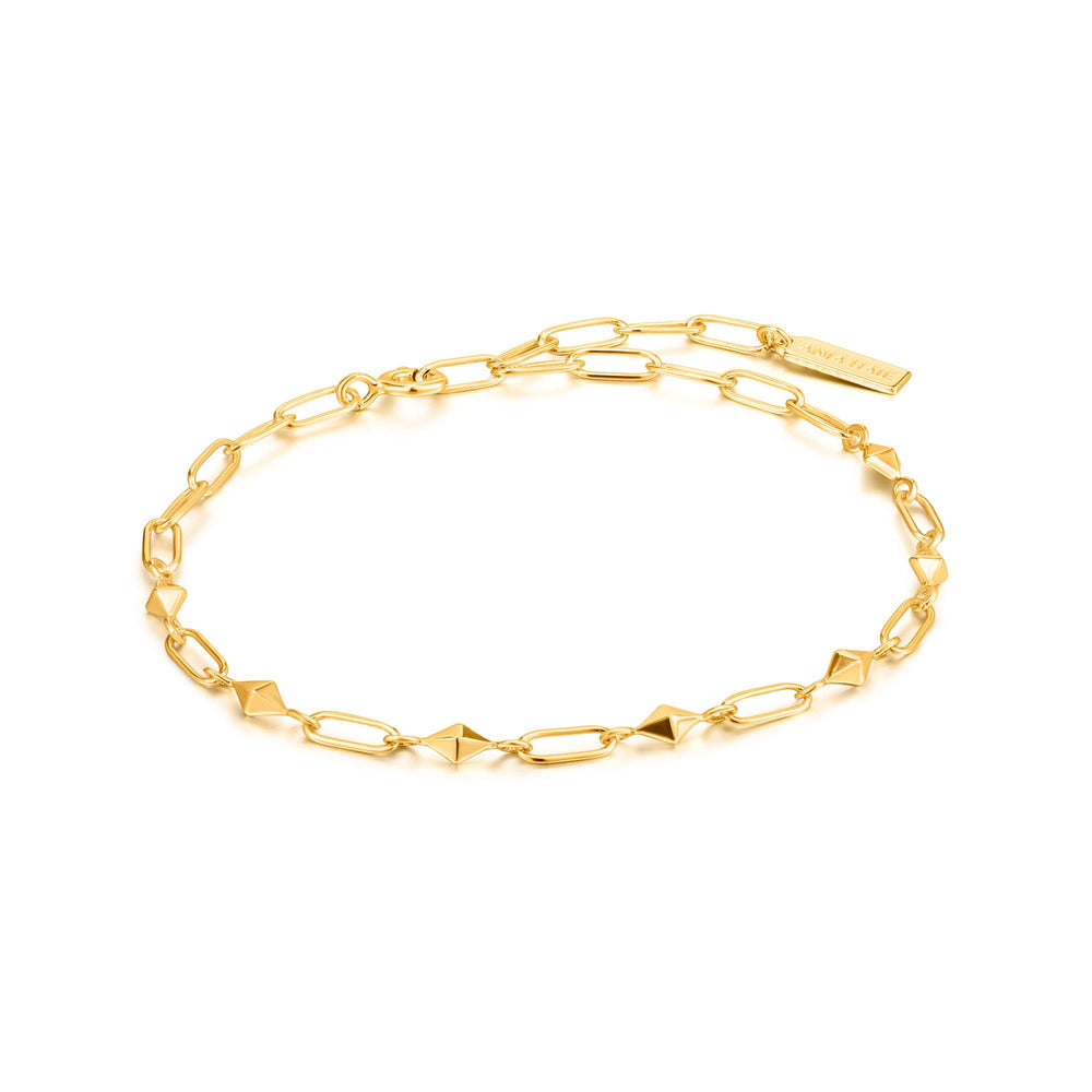 Gold Heavy Spike Bracelet