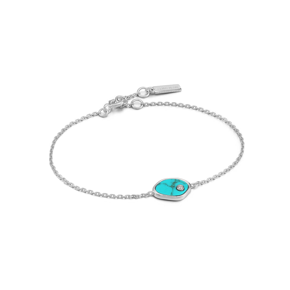 Load image into Gallery viewer, Silver Tidal Turquoise Bracelet