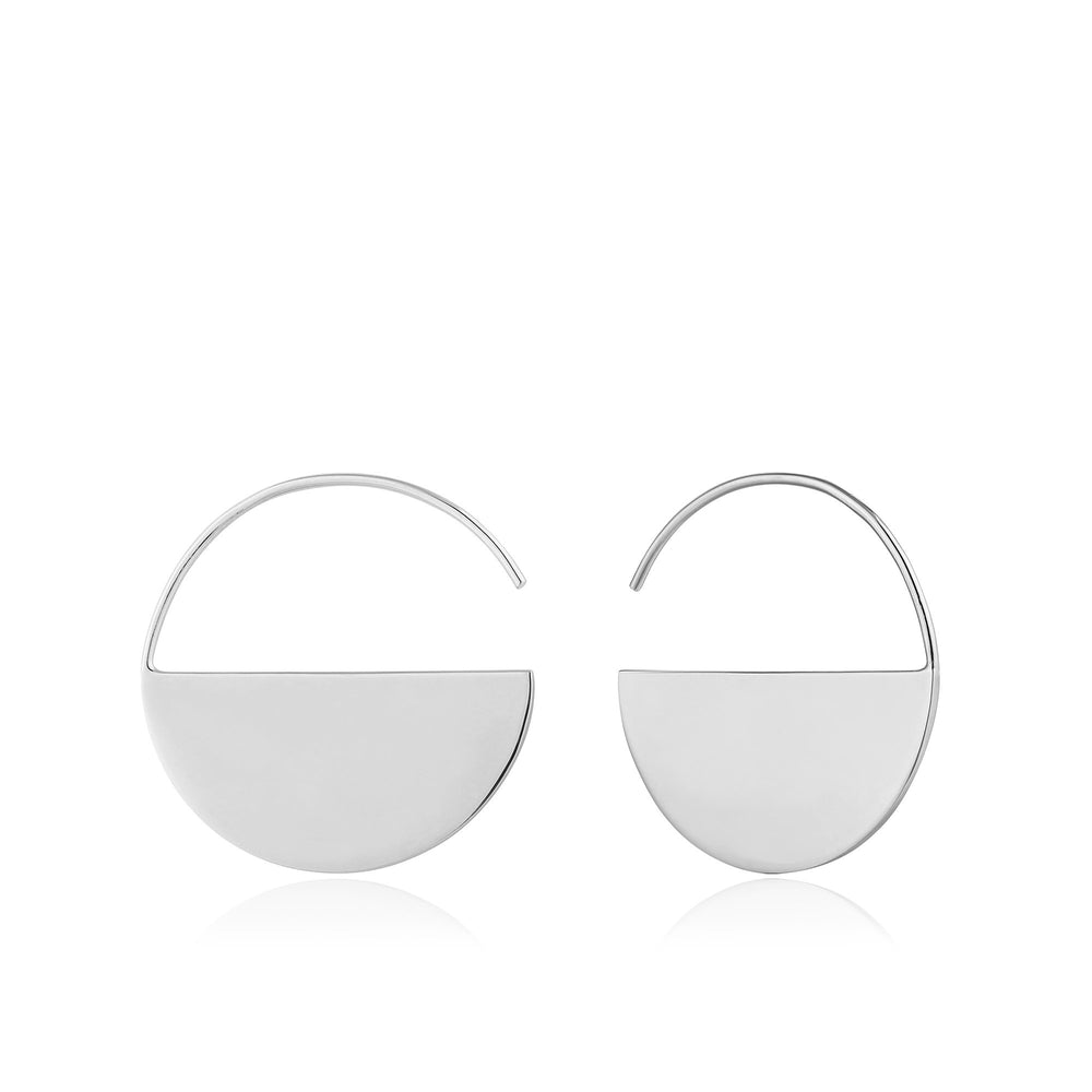 Silver Geometry Hoop Earrings