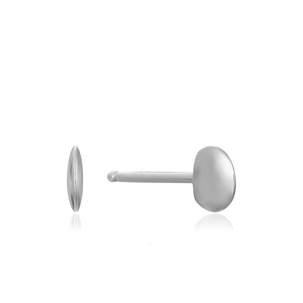 Load image into Gallery viewer, Silver Circle Stud Earrings