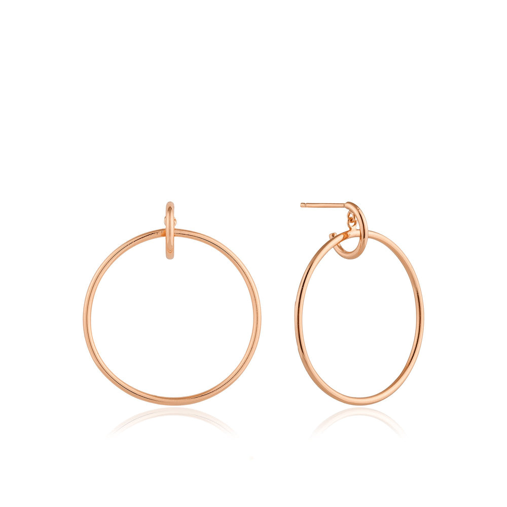 Load image into Gallery viewer, Rose Gold Front Hoop Earrings