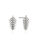 Silver Palm Stud Earrings
