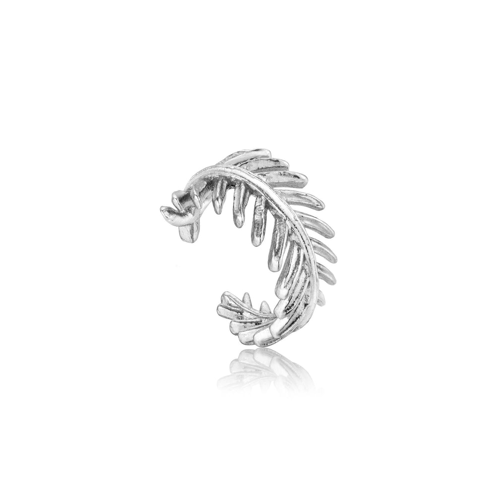 Load image into Gallery viewer, Silver Palm Ear Cuff