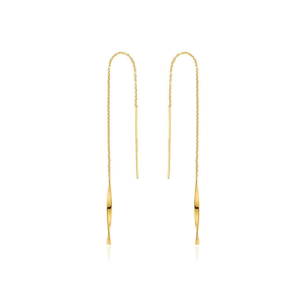 Load image into Gallery viewer, Gold Helix Threader Earrings