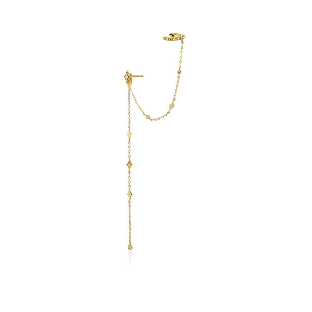 Load image into Gallery viewer, Gold Bohemia Stud Ear Cuff