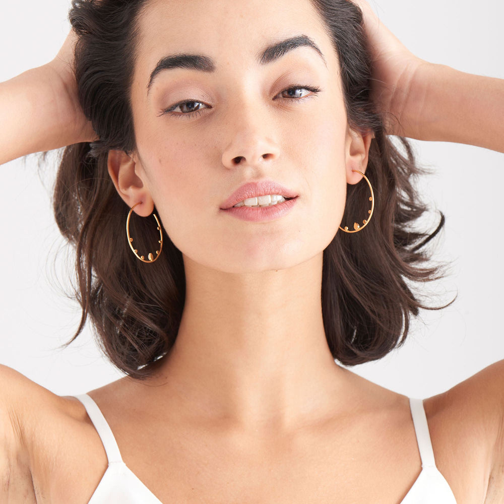 Load image into Gallery viewer, Gold Dream Open Hoop Earrings