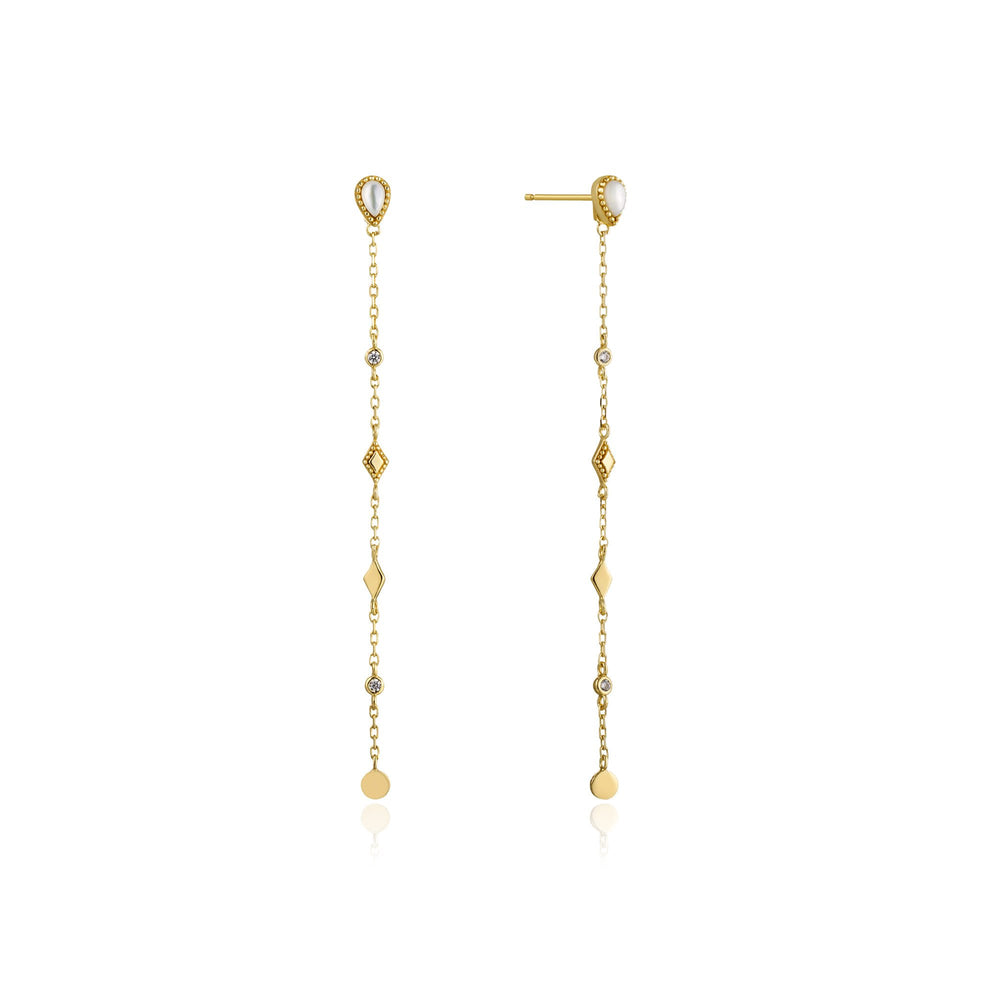 Load image into Gallery viewer, Gold Dream Drop Earrings