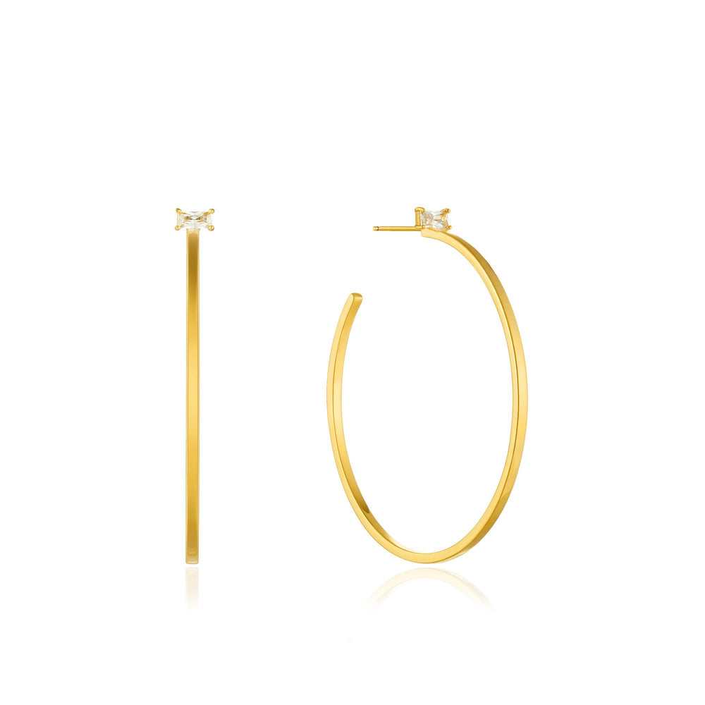 Gold Glow Hoop Earrings