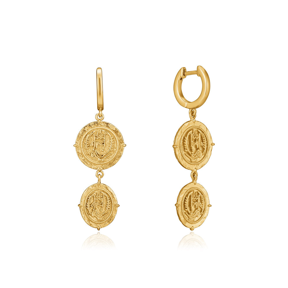 Gold Axum Mini Hoop Earrings