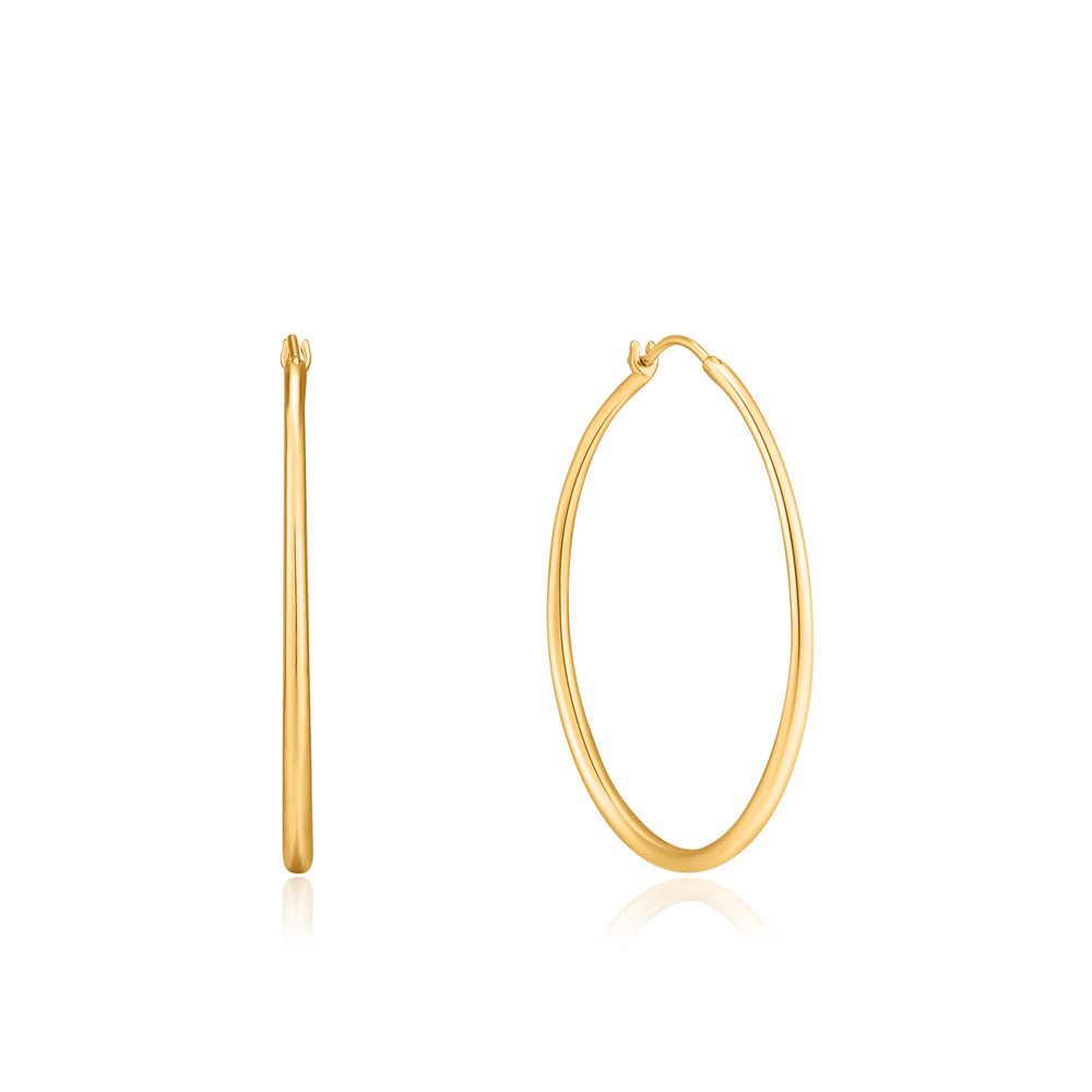 Gold Luxe Hoop Earrings