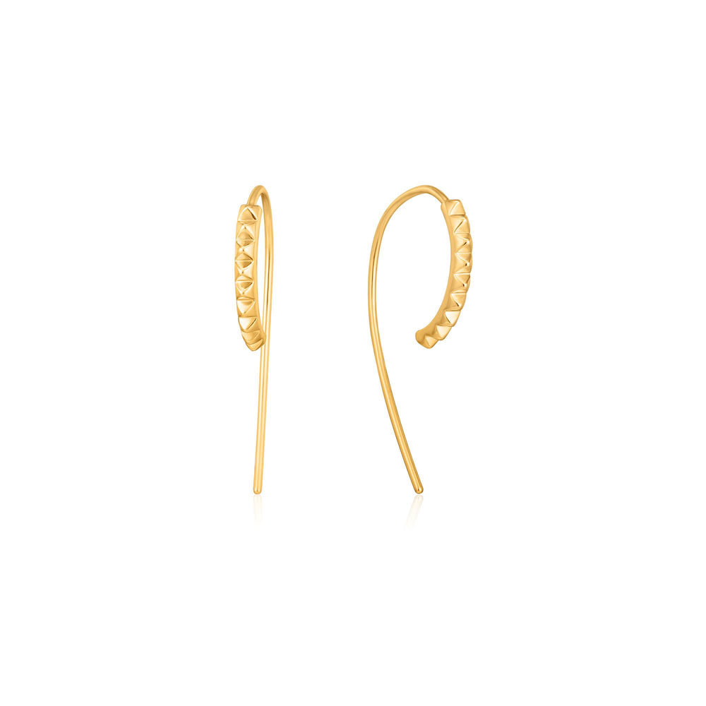 Load image into Gallery viewer, Gold Spike Solid Drop Earrings