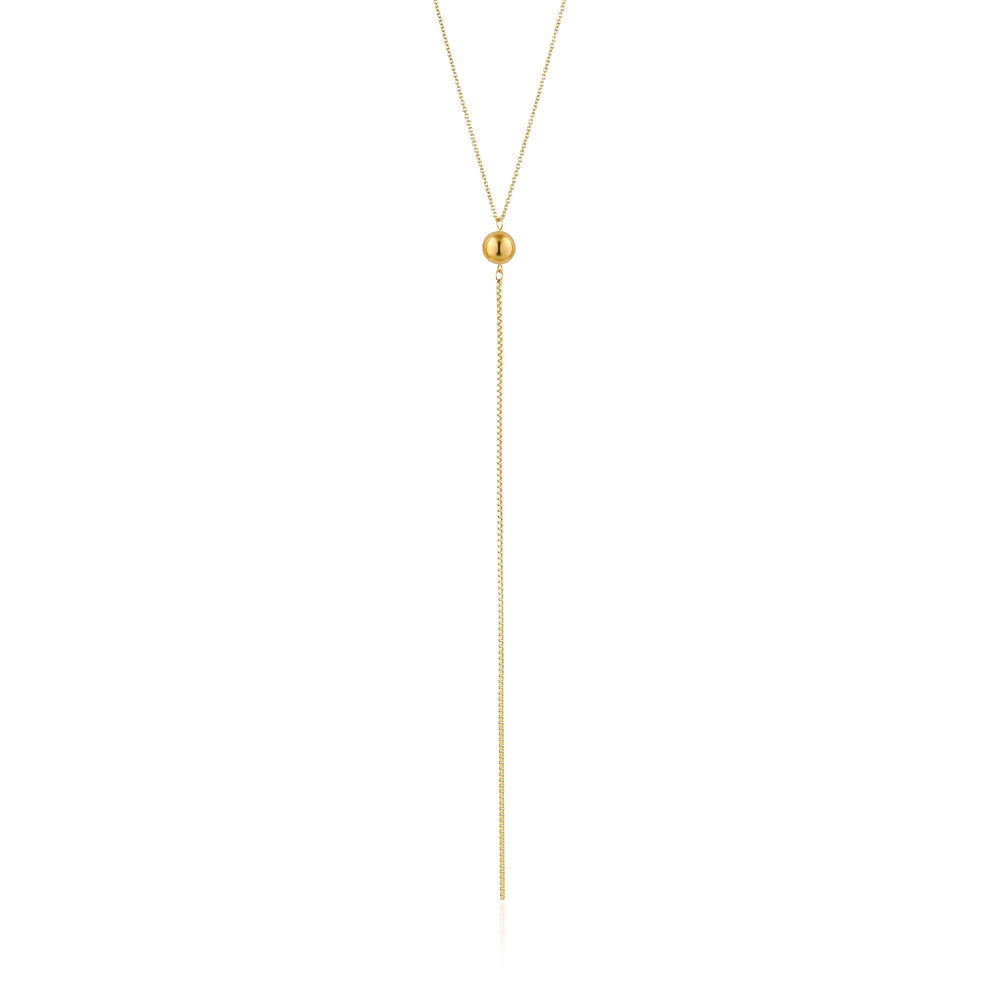 Gold Orbit Y Necklace