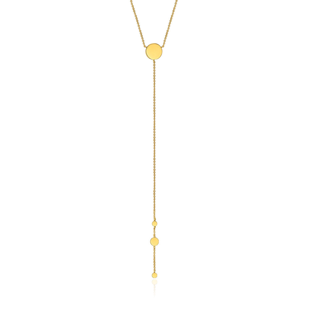 Gold Geometry Y Necklace