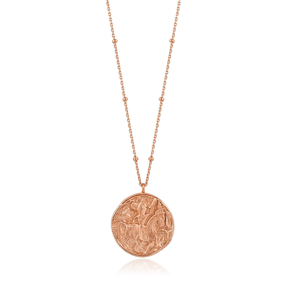Load image into Gallery viewer, Rose Gold Greek Warrior Necklace