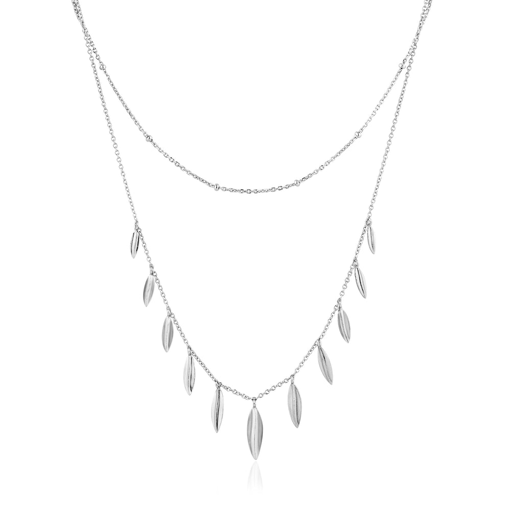 Silver Leaf Double Necklace
