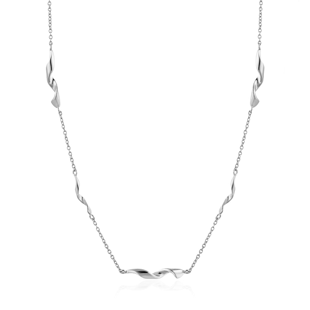 Silver Helix Necklace