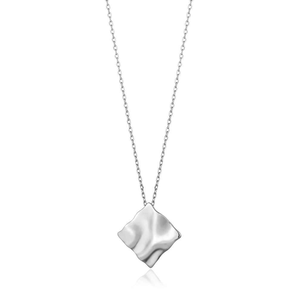 Silver Crush Square Necklace