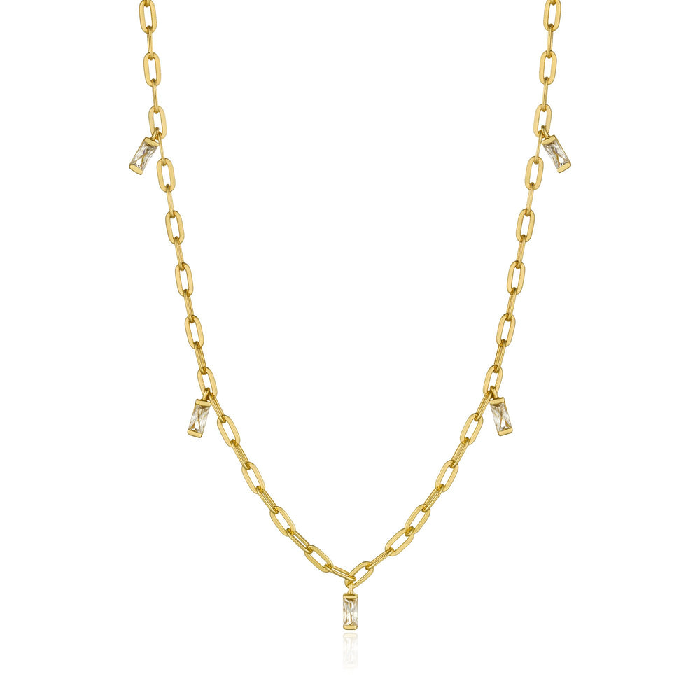Gold Glow Drop Necklace