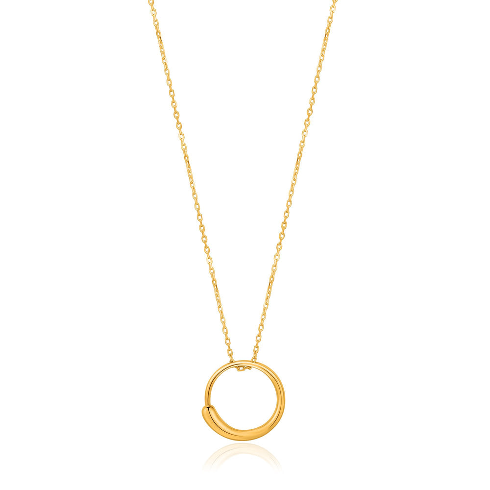 Load image into Gallery viewer, Gold Luxe Circle Necklace
