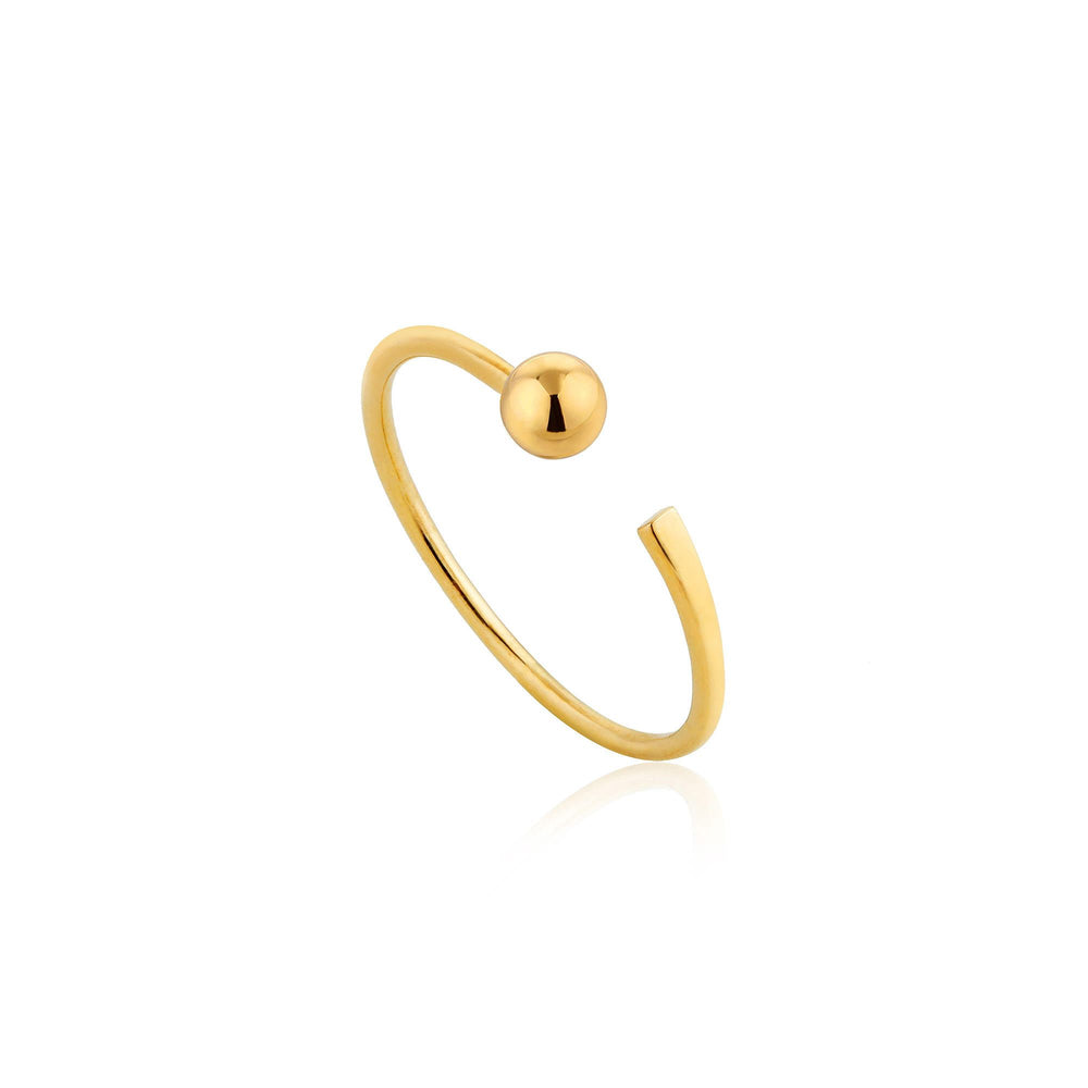 Gold Orbit Flat Adjustable Ring