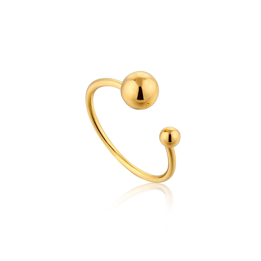 Gold Orbit Adjustable Ring