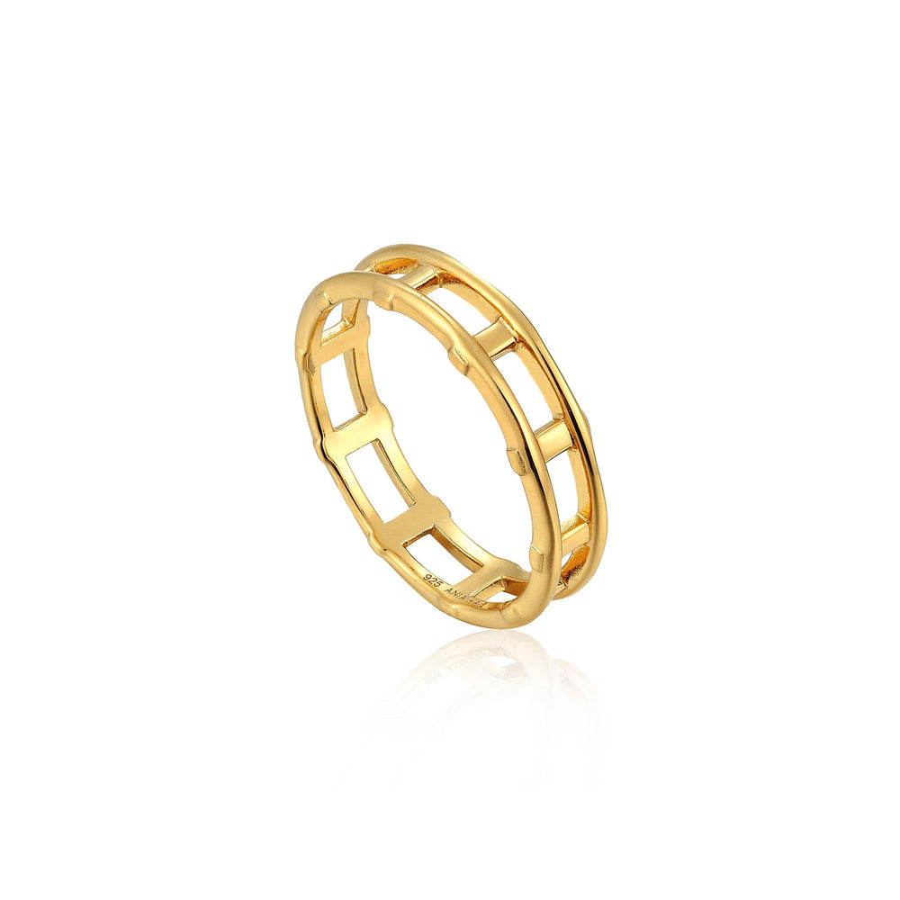 Gold Modern Bar Ring