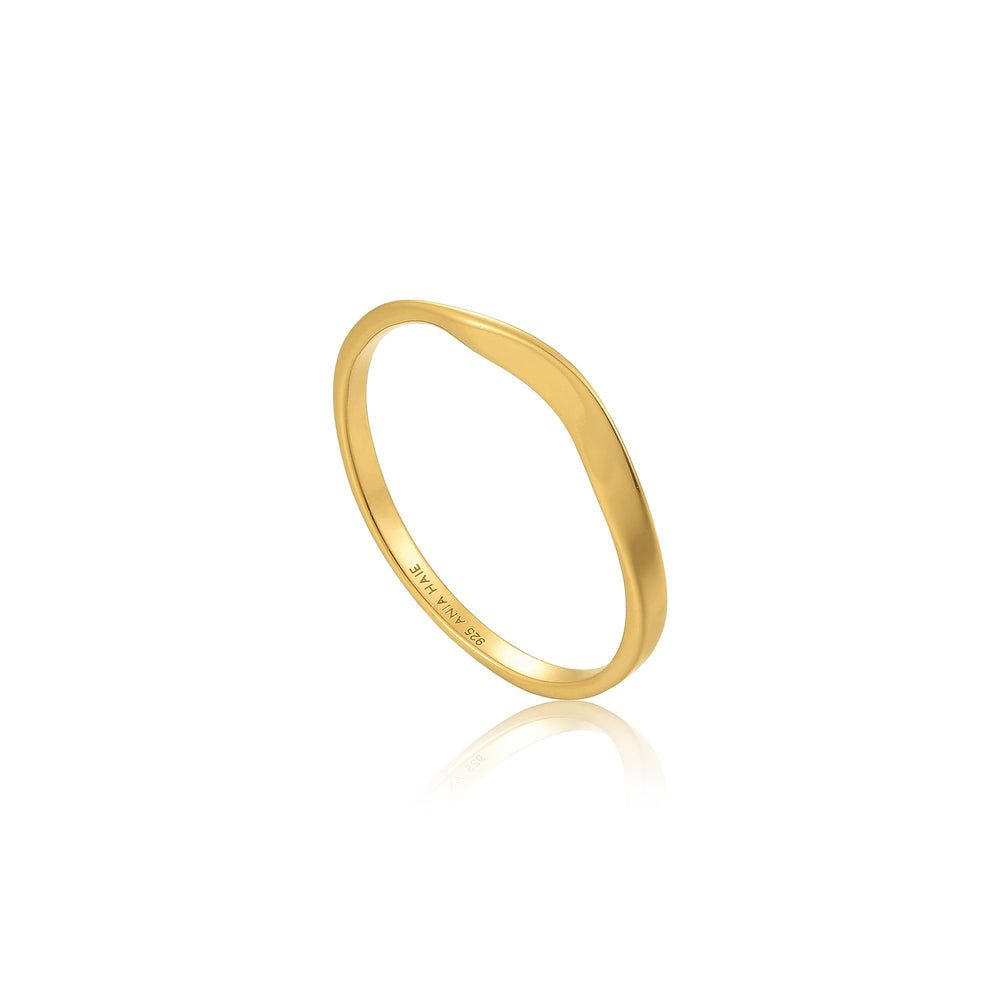 Gold Modern Curve Ring