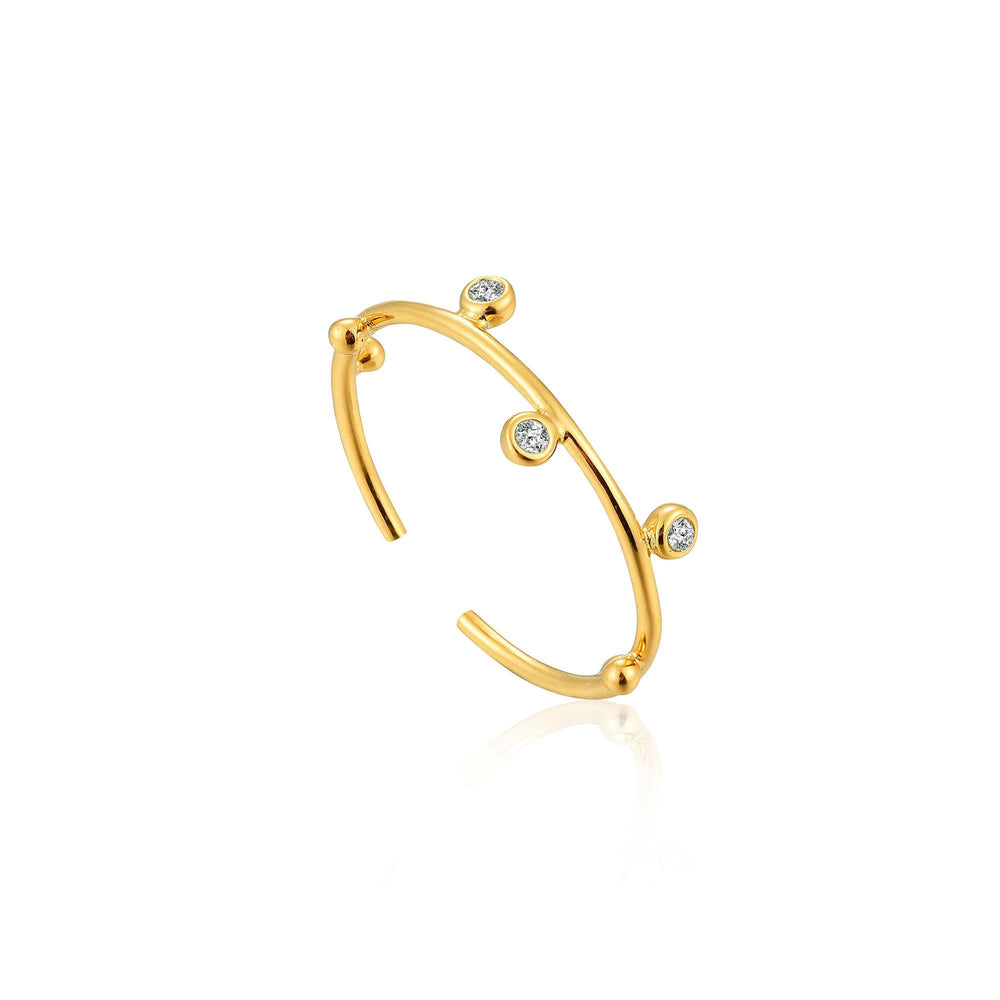 Load image into Gallery viewer, Gold Shimmer Stud Adjustable Ring