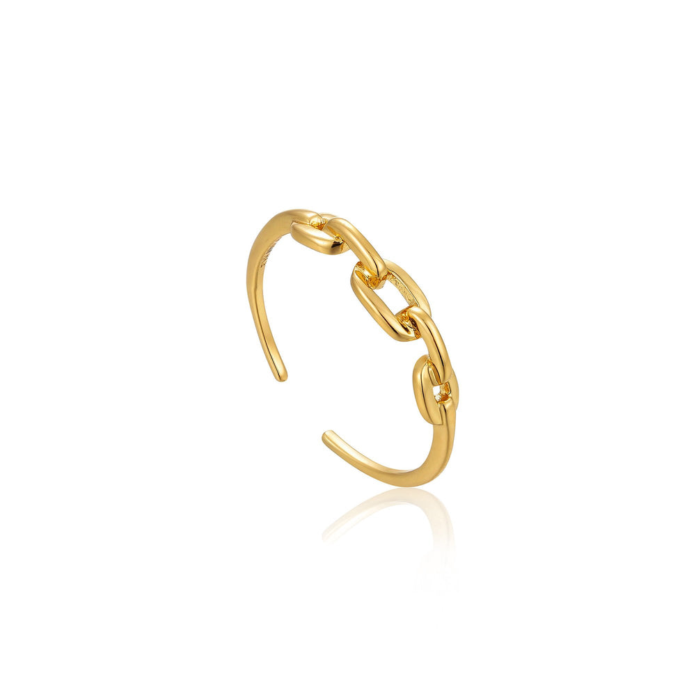 Gold Links Adjustable Ring