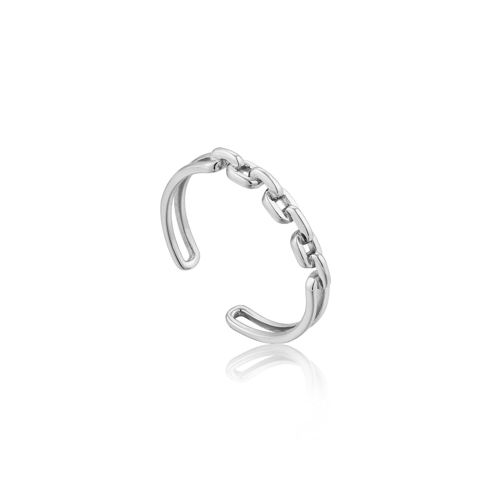 Silver Links Double Adjustable Ring