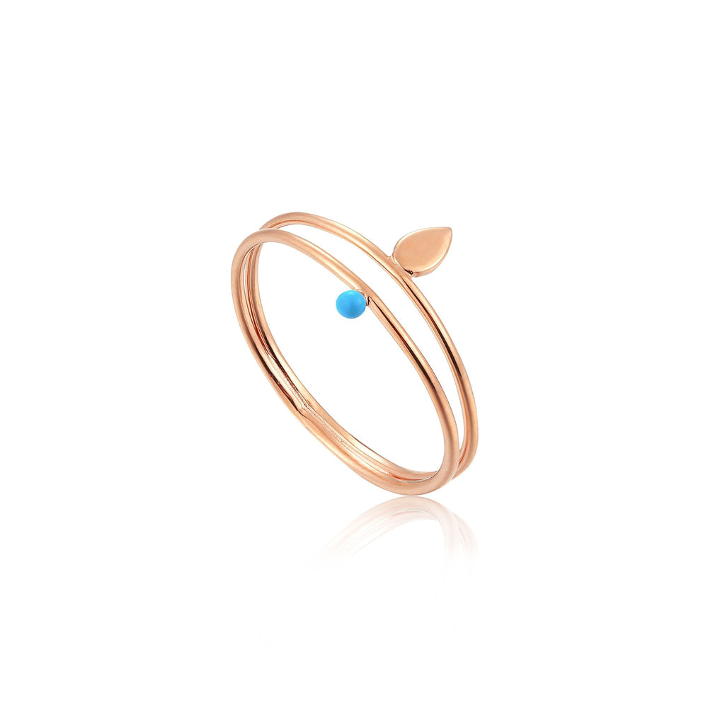 Rose Gold Dotted Double Ring