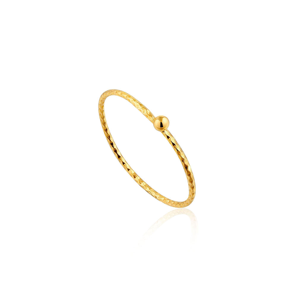 Gold Texture Small Ball Ring